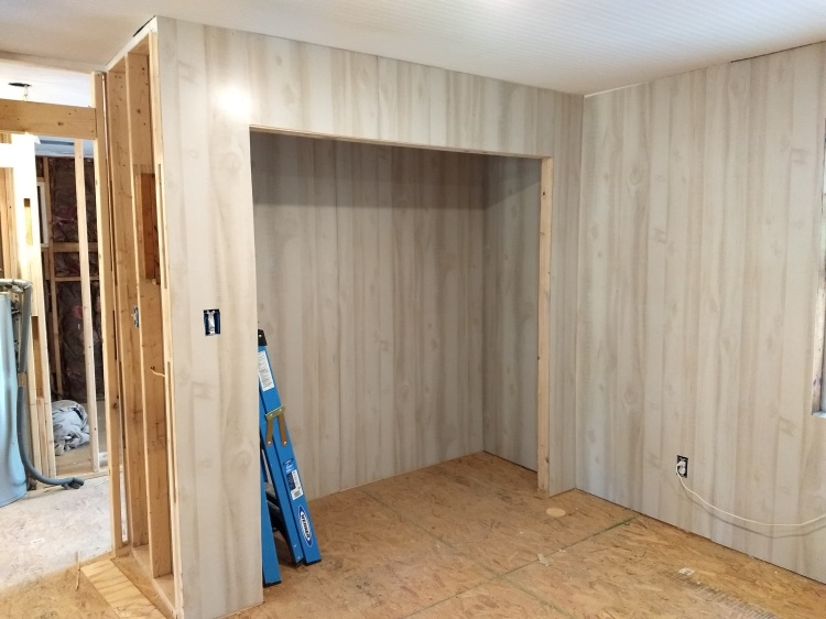 Framing and Paneling or drywall hanging